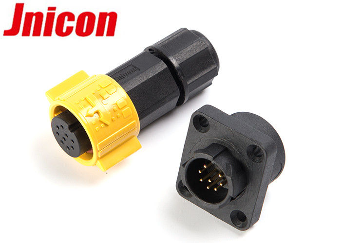 IP67 Waterproof Panel Mount Plug Socket Quick Connect Jnicon Signal Connection